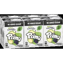 Photo of Prima Apple Blackcurrant No Added Sugar Fruit Drink 6x200ml