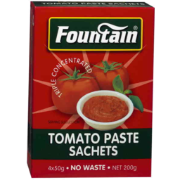 Photo of Fountain Tomato Paste Sachets 4 X 50g 200gm