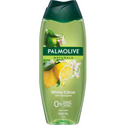 Photo of Palmolive Naturals White Citrus Body Wash With Lemongrass 0% Parabens Recyclable 500ml