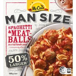 Photo of McCain Man Size Spaghetti & Meatballs 500gm