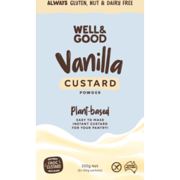 Photo of Well & Good Custard Powder Plant Based Vanilla Gluten, Nut & Dairy Free 250g
