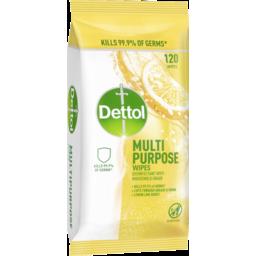 Photo of Dettol Multipurpose Cleaning Wipes Lemon Lime Burst 120 Pack