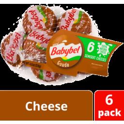 Photo of Mini Babybel® Gouda Snack Cheese, 6 Pack (4.5 Oz)