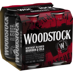 Photo of Woodstock Bourbon & Cola 4.8% Cans