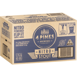 Photo of 4 Pines Brew Stout Bottle 330ml 24 Pack