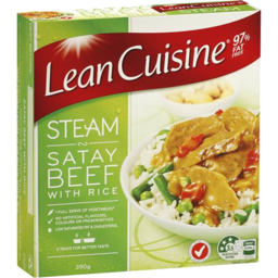 Photo of Lean Cuisine Steam Satay Beef & Rice 390gm