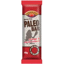 Photo of Golden Days Orange And Cacao Crunch Paleo Bar 40gm