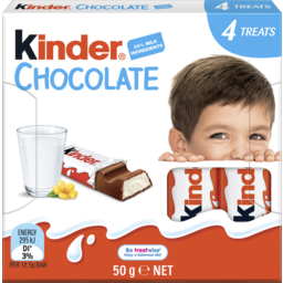 Photo of Kinder Chocolate 4 Treat Pack 50g