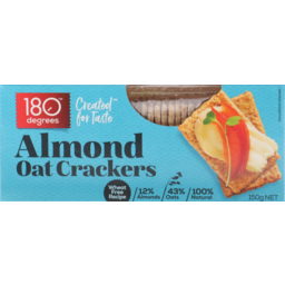 Photo of 180 Degrees Almond Oat Crackers 150 Grams
