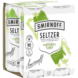 Photo of Smirnoff Seltzer Natural Lime