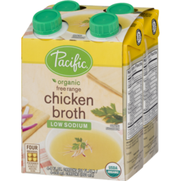 Photo of Pacific Natural Foods Broth Free Range Chicken Low Sodium Organic - 4 Ct
