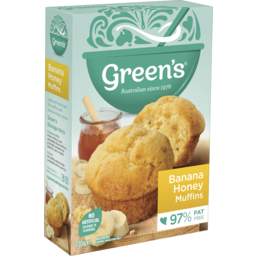 Photo of Greens 98% Fat Free Banana Honey Muffins 330g