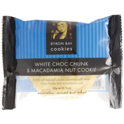 Photo of Byron Bay White Choc Macadamia Gluten Free Cookie 60g