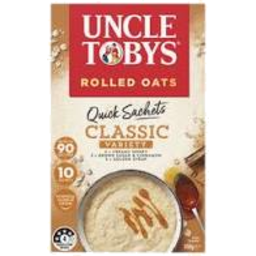 Photo of Uncle Tobys Rolled Oats Quick Sachet Classic Variety 10 Pack 350g