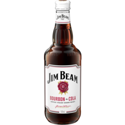 Photo of Jim Beam White Label & Cola Bottles