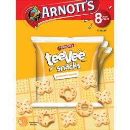 Photo of Arnotts Caramel Crunch Tee Vee Snacks Multipack 8 Pack 168g