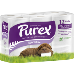 Photo of Purex Toilet Paper Soft White 12 Pack