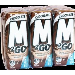 Photo of M2go Chocolate Flavoured Milk Uht 6x250ml