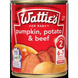 Photo of Wattie's Stage 2 Baby Food Pumpkin Potato & Beef 7+ Months 120g