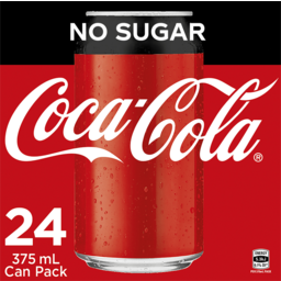 Photo of Coca-Cola No Sugar Soft Drink Multipack Cans 24x375ml