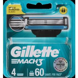 Photo of Gillette Mach3 Razor Blades 4 Cartridges