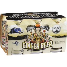 Photo of Brookvale Union Ginger Beer 6 Pack 330ml Cans