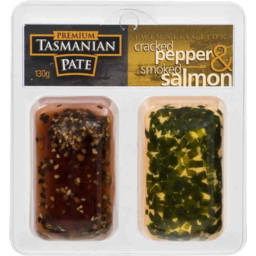 Photo of Premium Tasmanian Pate Twin Selection Cracked Pepper And Smoked Salmon 130gm