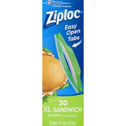 Photo of Ziploc Sandwich Bags Xl 30 Pack