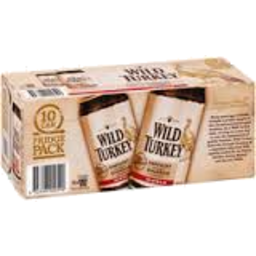Photo of Wild Turkey Bourbon & Cola Cans