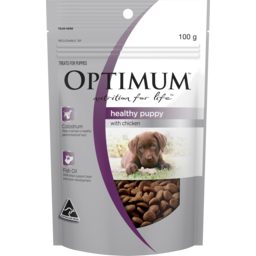 Photo of Optimum Nutrition For Life Healthy Puppy With Chicken Dog Treat 100g