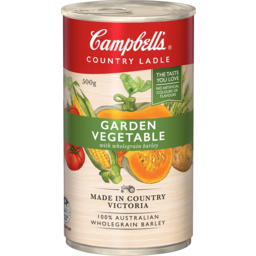 Photo of Campbells Soup Country Ladle Garden Vegetable Barley 500g