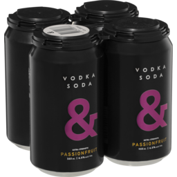 Photo of Vodka Soda & Passionfruit Can