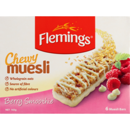 Photo of Flemings Muesli Bars Chewy Berry Smoothe 165g