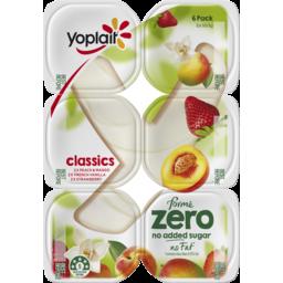 Photo of Yoplait Forme Zero Peach & Mango, Vanilla & Strawberry Yoghurt Multipack 6x160g