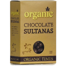 Photo of Org Mlk Choc Sultanas 150g