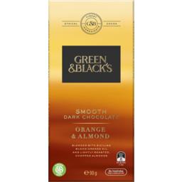 Photo of Green & Blacks Dark Chocolate Orange & Almond 90g