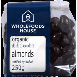 Photo of Wholefoods House Chocolate Almonds Dark 250g