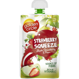 Photo of Golden Circle® Strawberry Squeeze Apple, Strawberry & Pear Pouch 120g