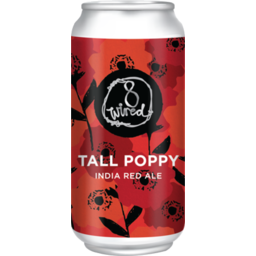Photo of 8wired Tall Poppy India Red Ale 440ml