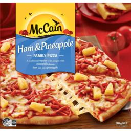 Photo of McCain Family Pizza Ham & Pineapple 500gm