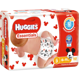 Photo of Huggies Essentials Nappies Crawler Size 3 52s