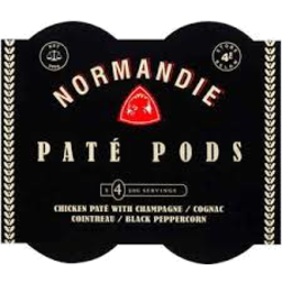 Photo of Normandie Pate Pods Chicken & Champagne 4x50gm
