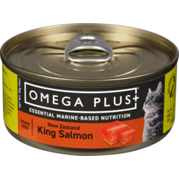 Photo of Omega Plus Wet Cat Food Salmon 85gm