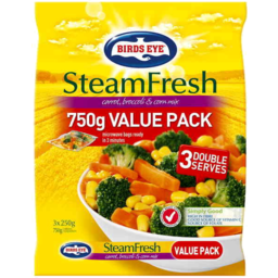 Photo of Birds Eye Steam Fresh Carrot Broccoli & Corn Mix 750gm