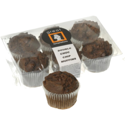 Photo of G.T.Dbl.Choc Chip Muffins 300g