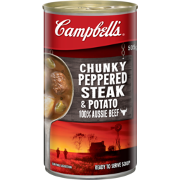 Photo of Campbell's Chunky Soup Peppered Steak & Potato 505g