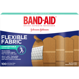 Photo of Band-Aid Brand Flexible Fabric Adhesive Bandages For Comfortable Flexible Protection And Wound Care Of Minor Cuts And Scrapes, All One Size, 100 Ct
