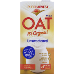 Photo of Pure Harvest Oat Unsweetened 1l