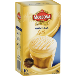 Photo of Moccona Coffee Vanilla Latte 10s 150g