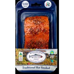 Photo of Hot Smoked Atlantic Salmon Portions - Mediterranean Pepper Sprinkle 150g